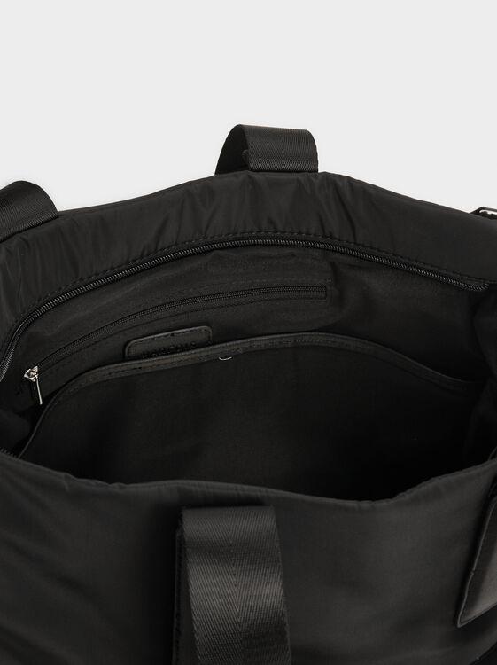 Nylon Tote Bag, Black, hi-res