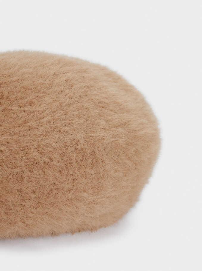 Wool Beret, Beige, hi-res