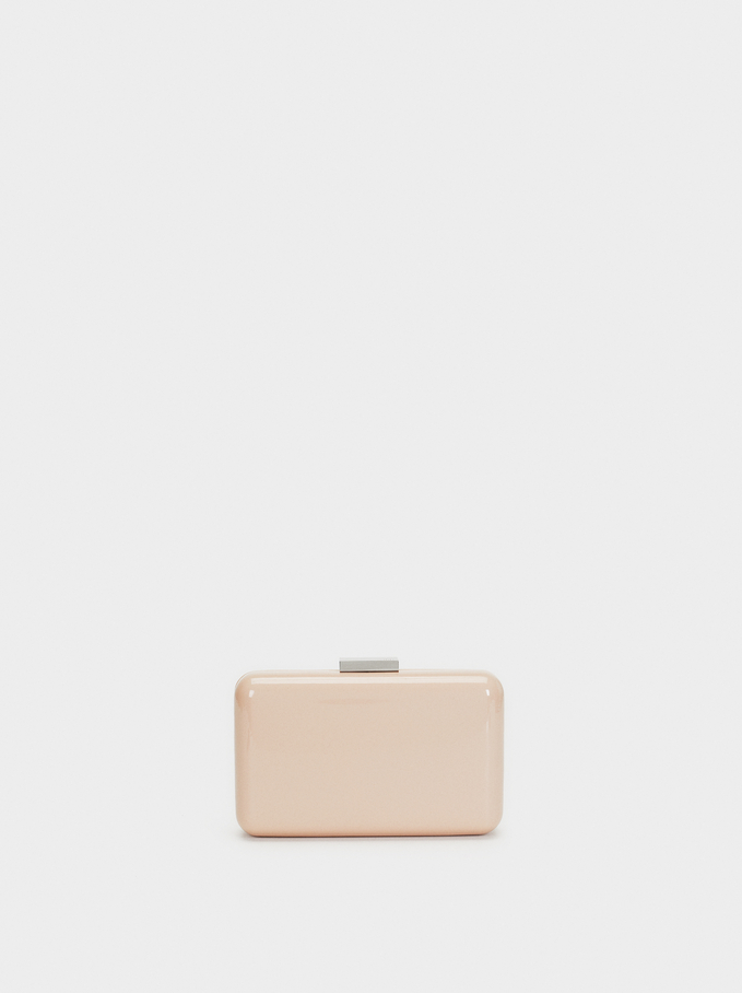Glossy Clutch, Pink, hi-res