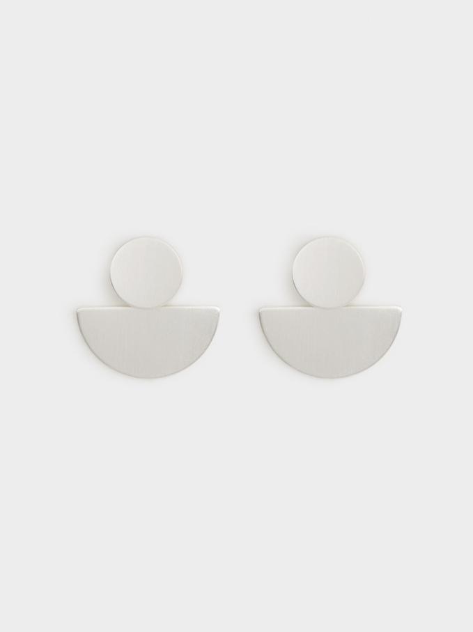 Boucles D'Oreilles Géométriques, Argent, hi-res