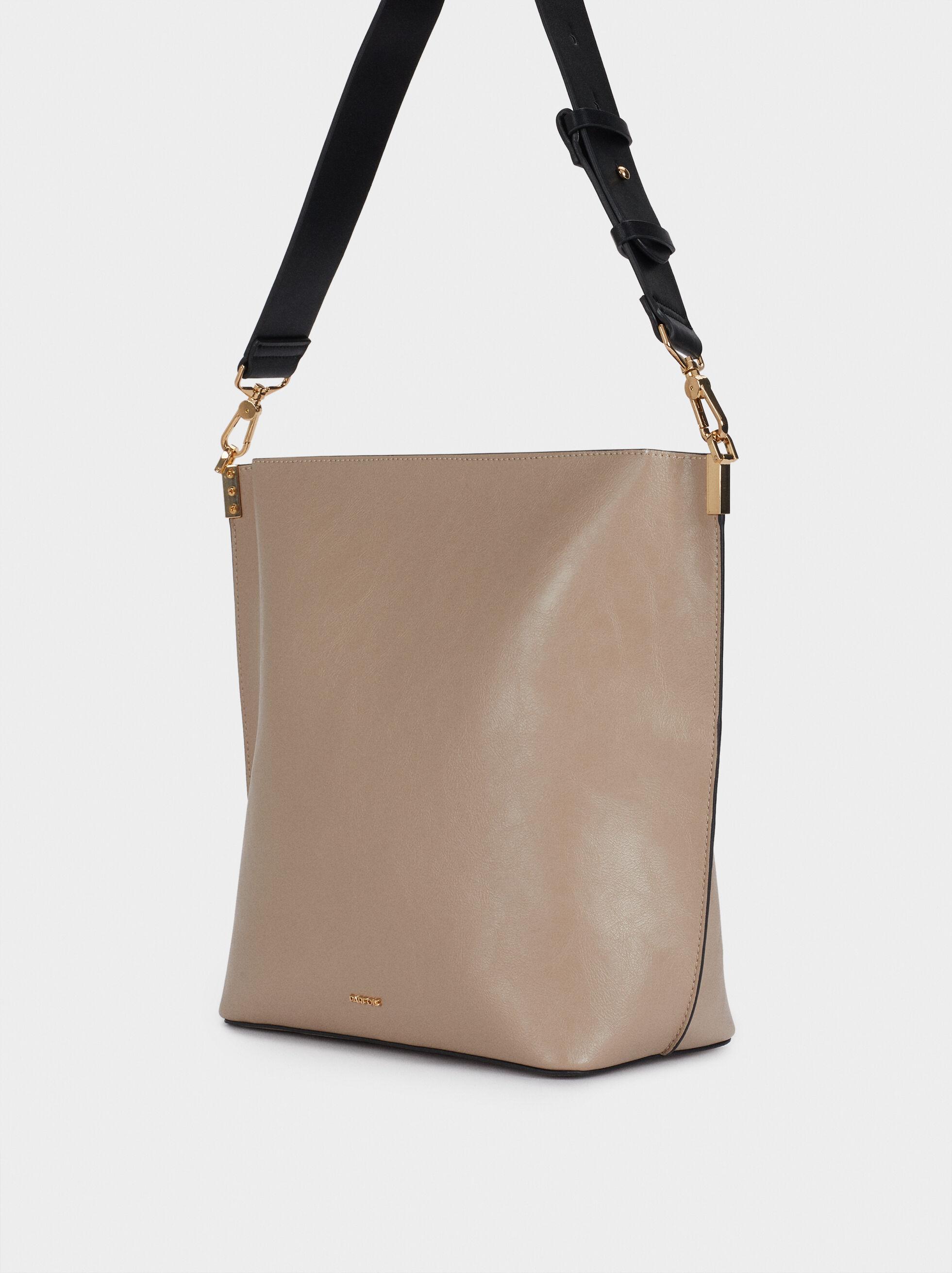Shoulder Bag With Adjustable Strap, Ecru, hi-res