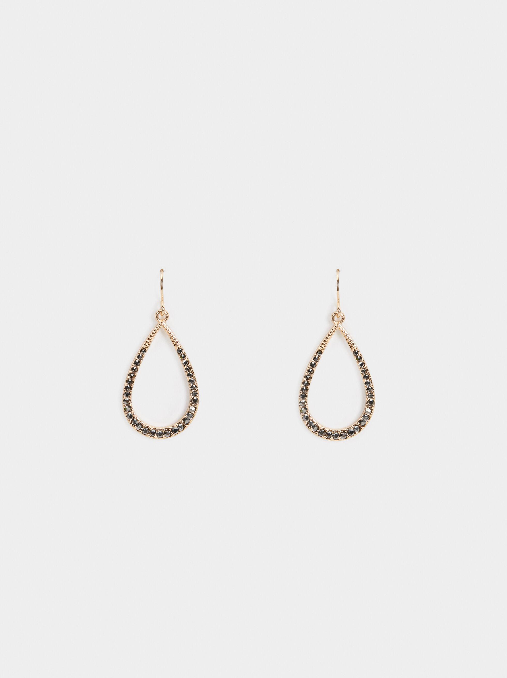 Medium Rhinestone Earrings, , hi-res