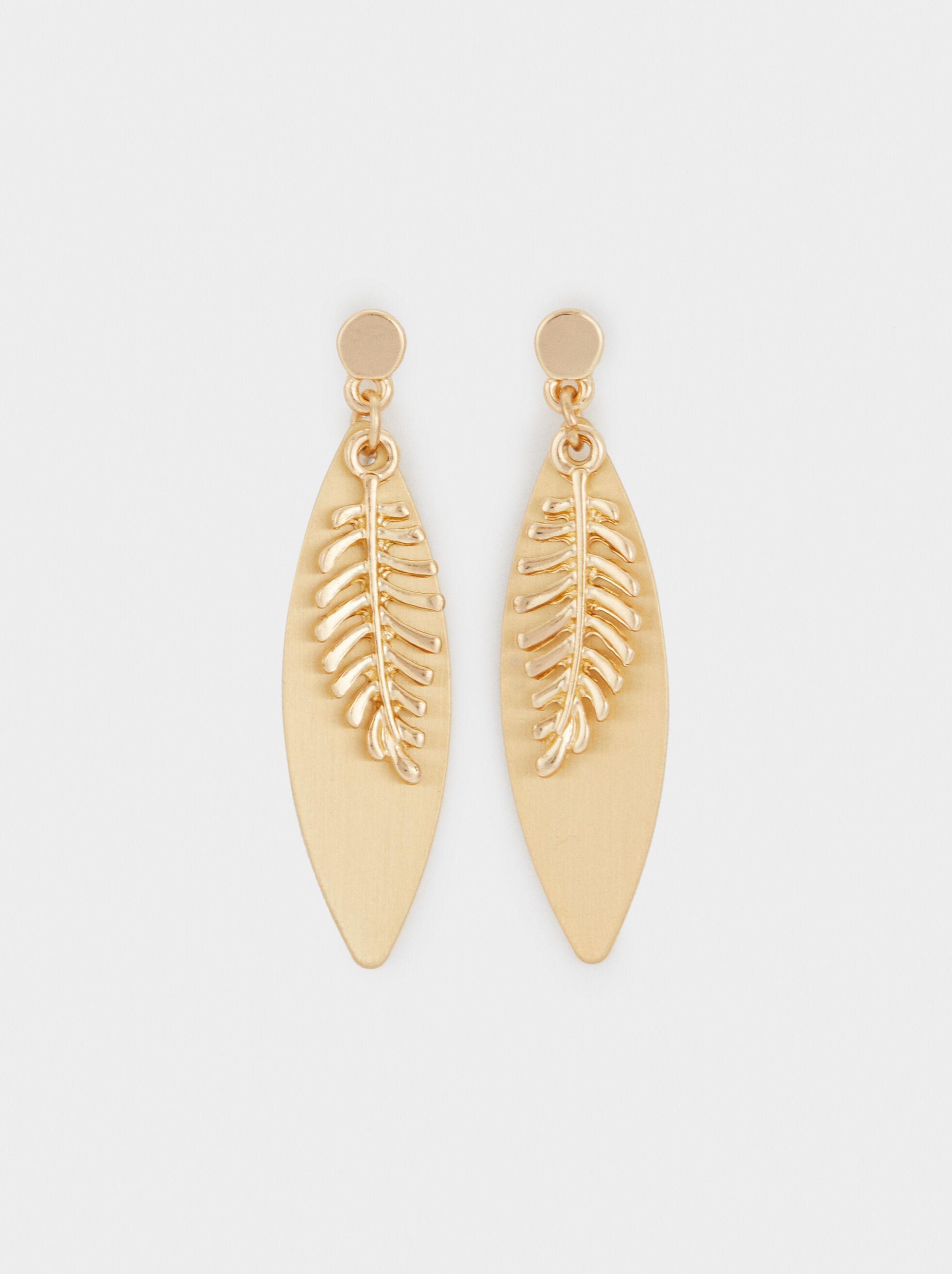 Medium Leaf Earrings, , hi-res