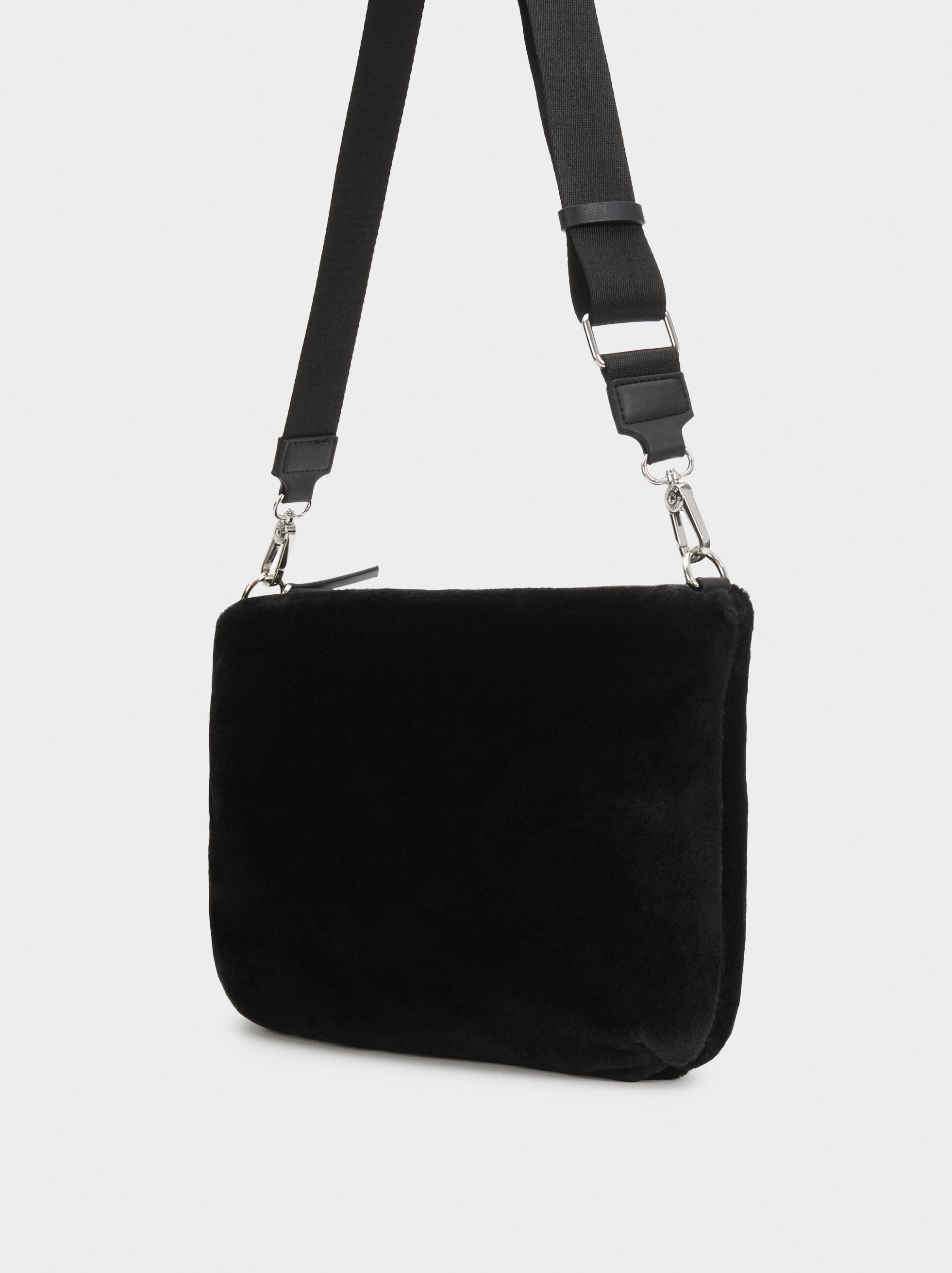 Tote Bag With Contrast Handle, Brick Red, hi-res