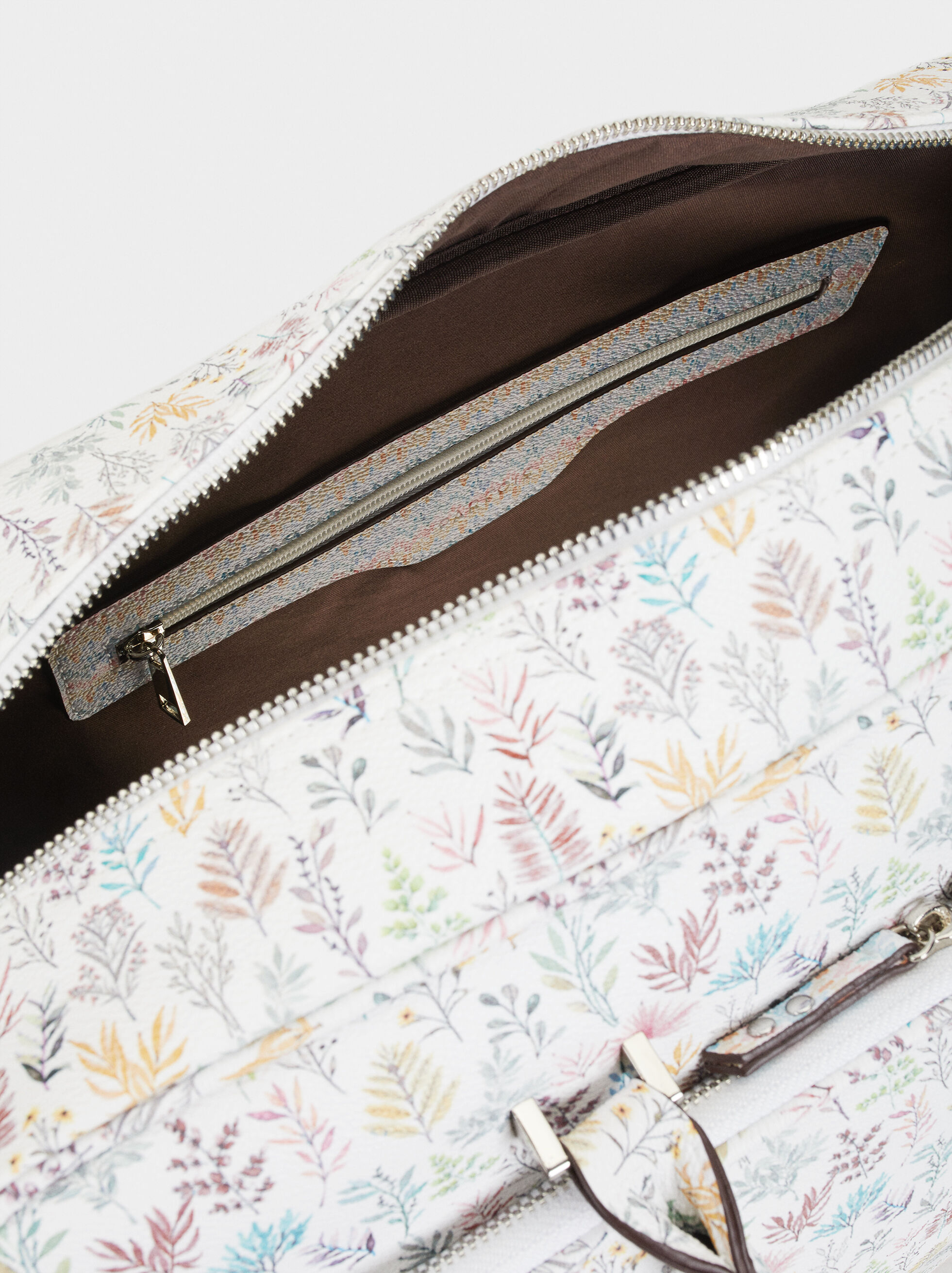 Floral Print Weekend Handbag, Pink, hi-res