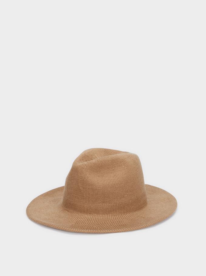 Knit Hat, Beige, hi-res