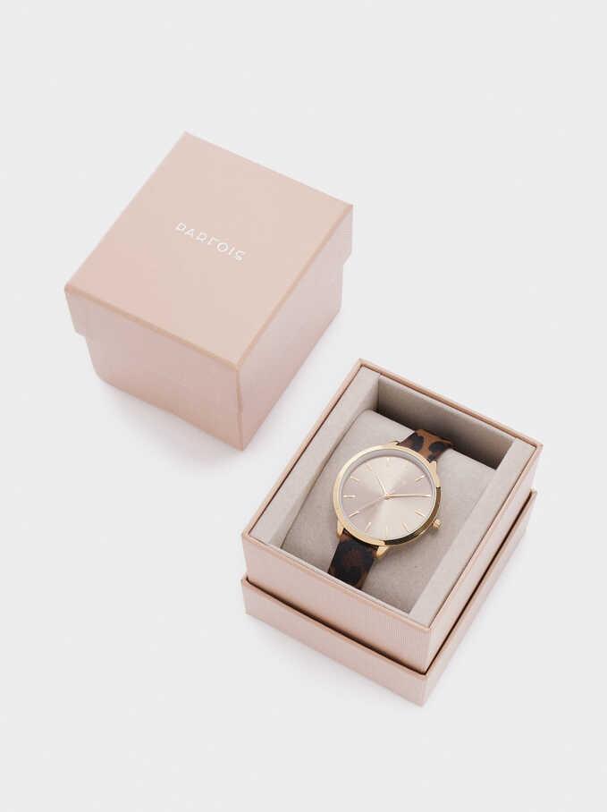 Reloj De Pulsera Estampada, Multicor, hi-res