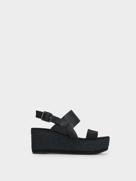 Platform Wedge Sandals, , hi-res