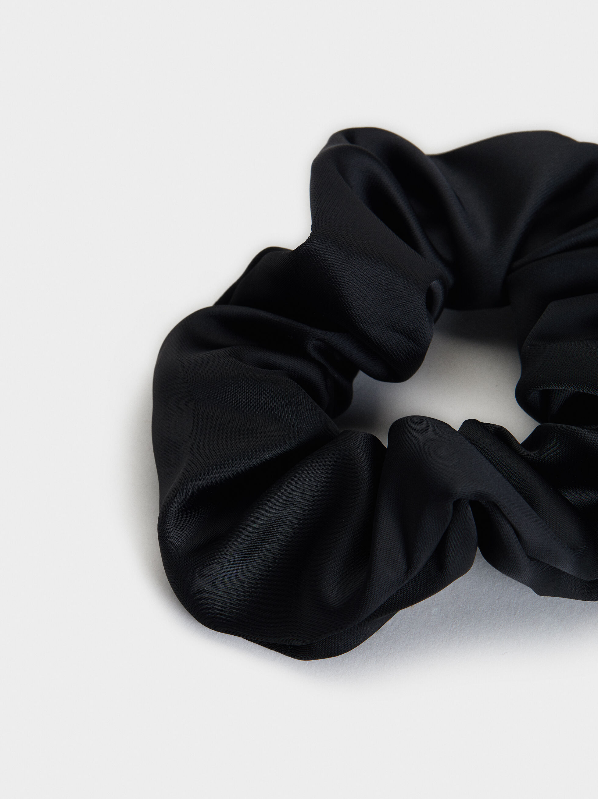 Plain Scrunchie, Black, hi-res