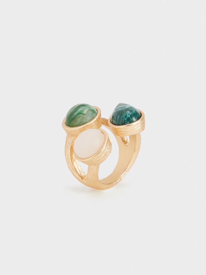 Stone Story Ring With Stones, Multicolor, hi-res