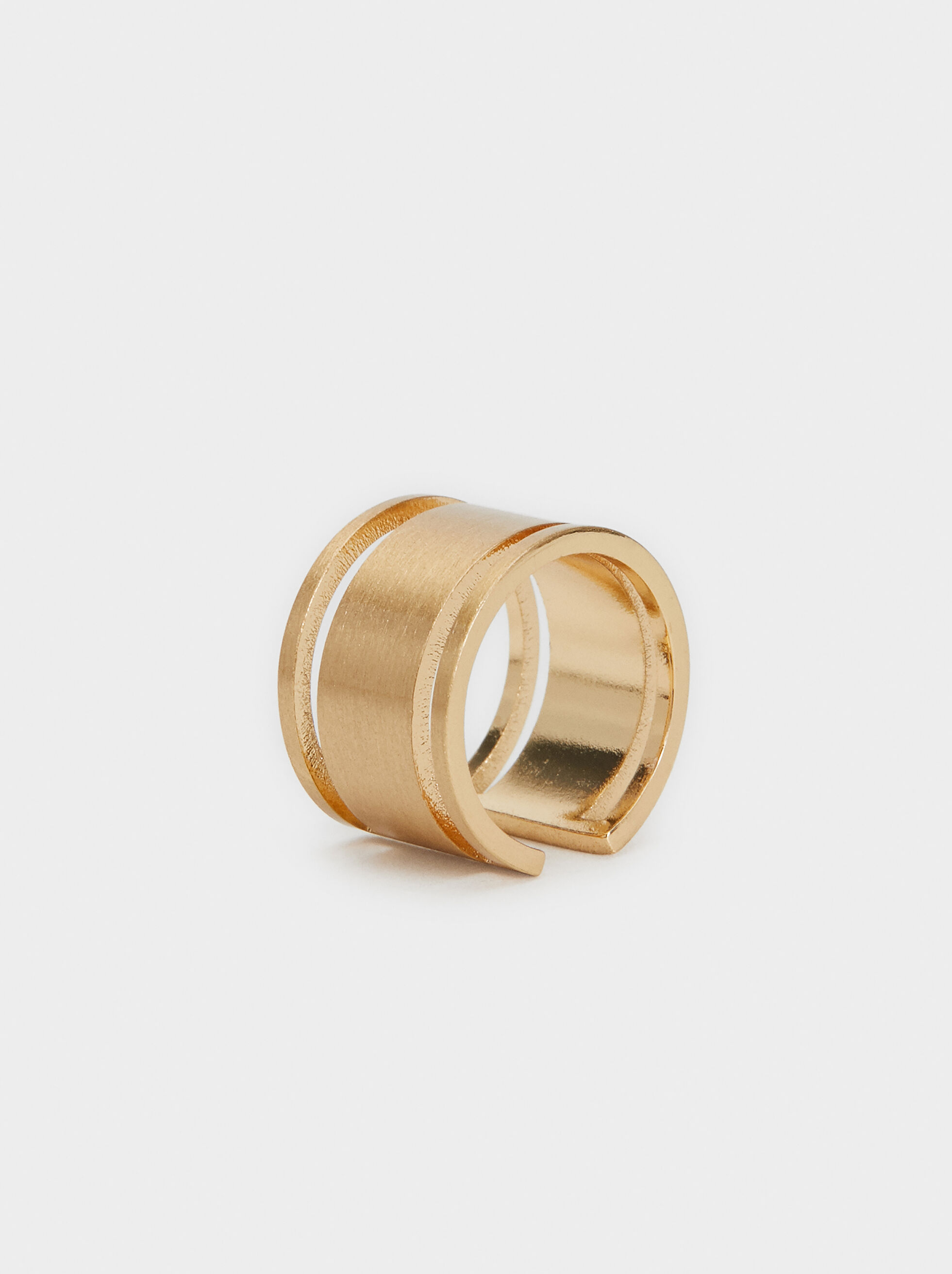 Gold-Toned Brushed Ring, , hi-res
