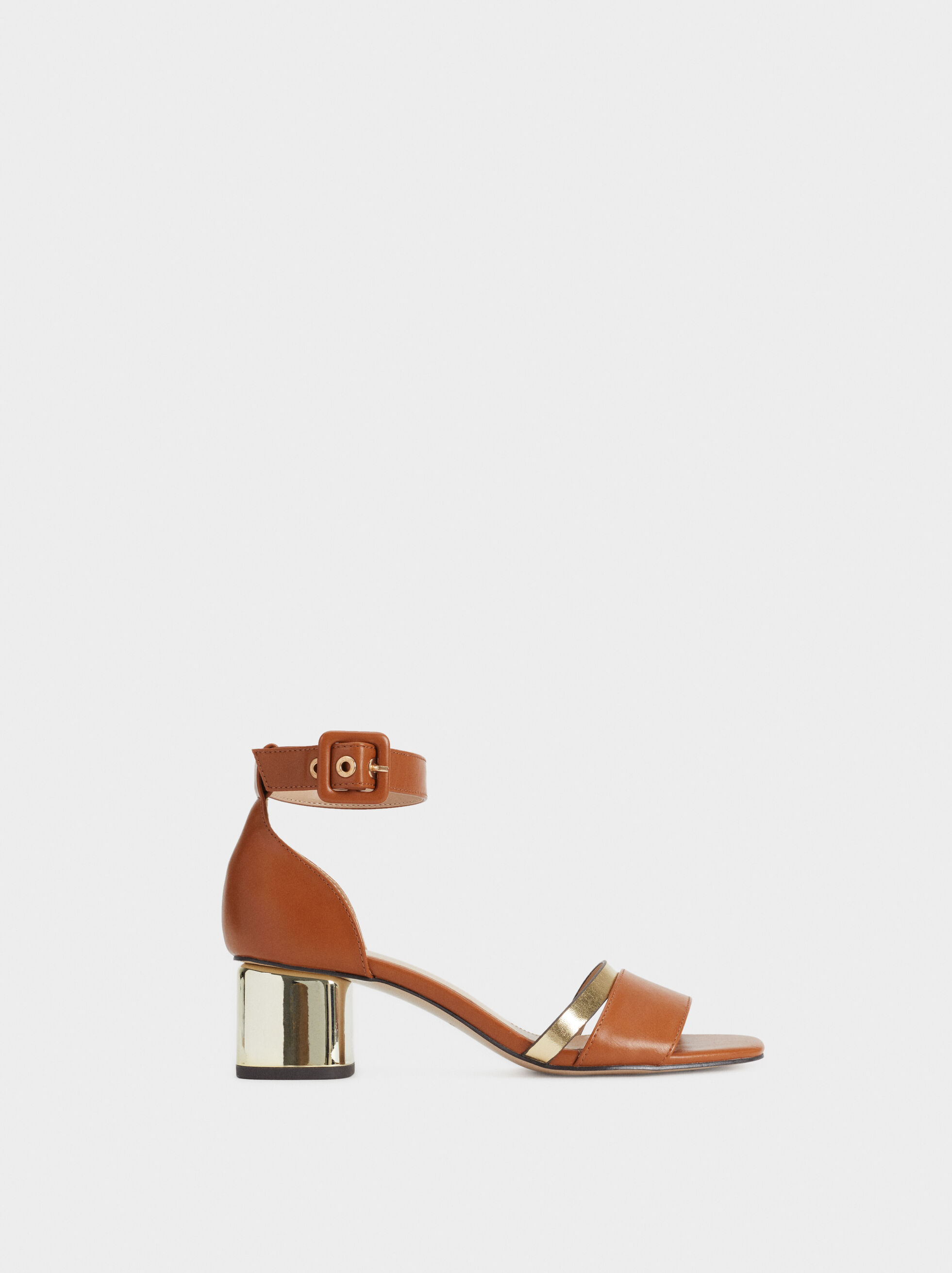 Sandals With Metallic Heel, , hi-res