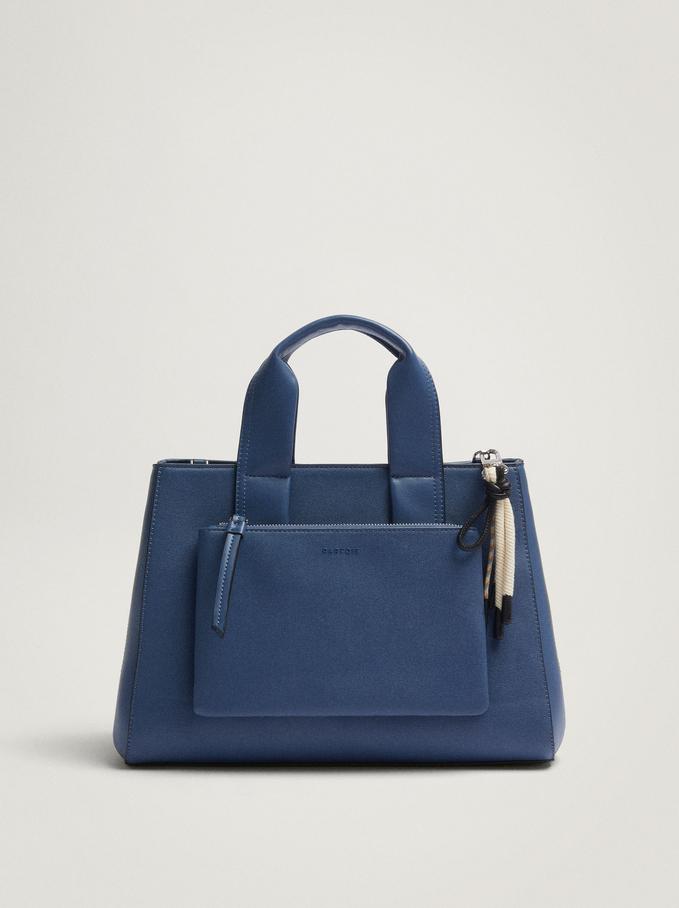 Tote Bag Avec Anse Amovible, Bleu, hi-res