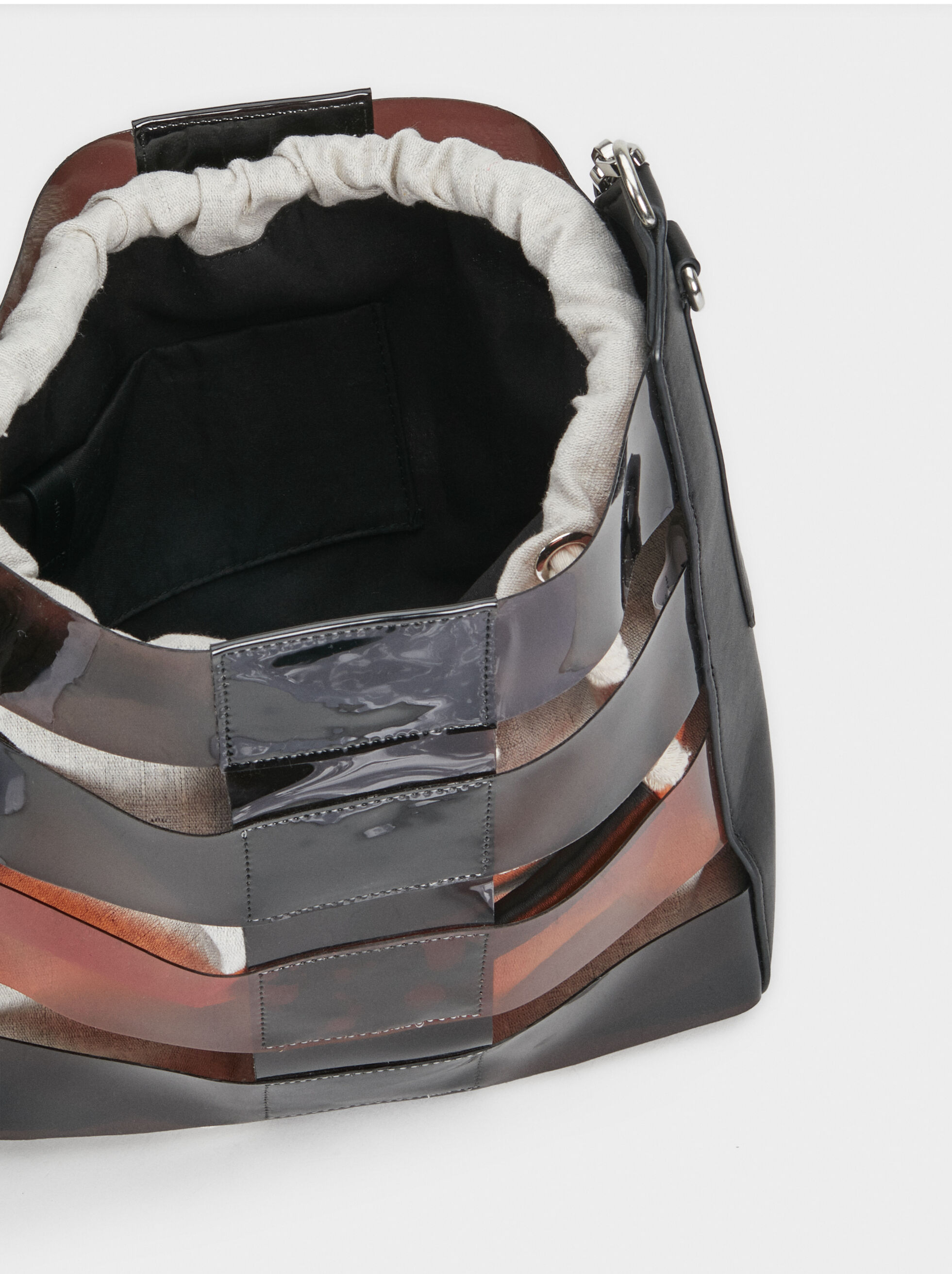Vinyl Bucket Bag, Black, hi-res