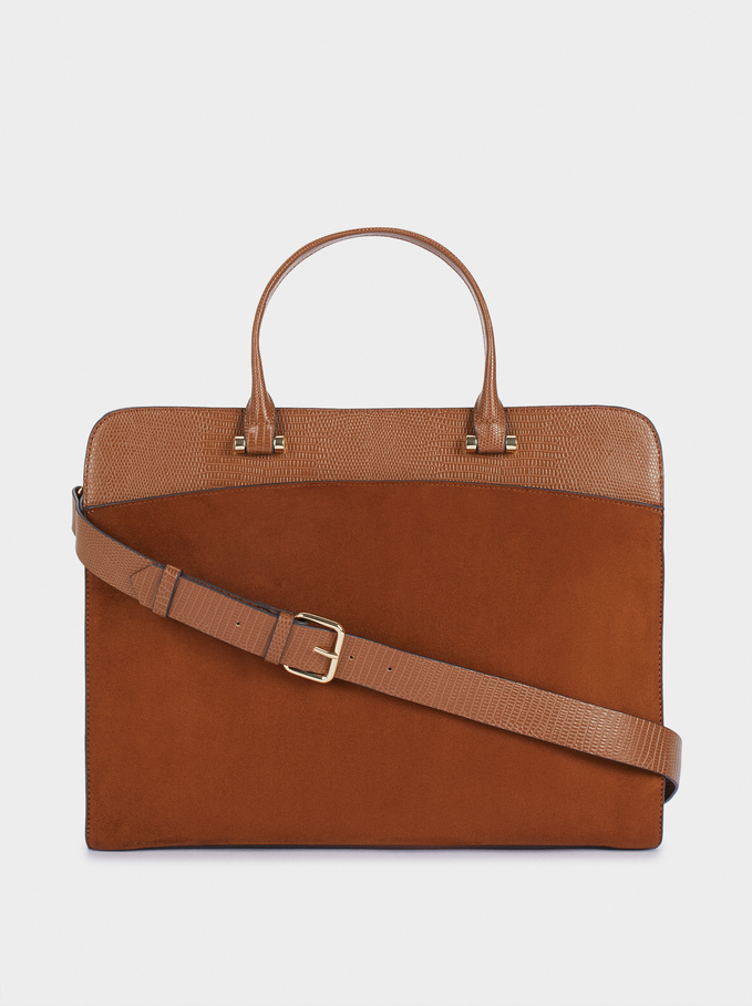 "Briefcase For 13"" Laptop, Camel, hi-res"