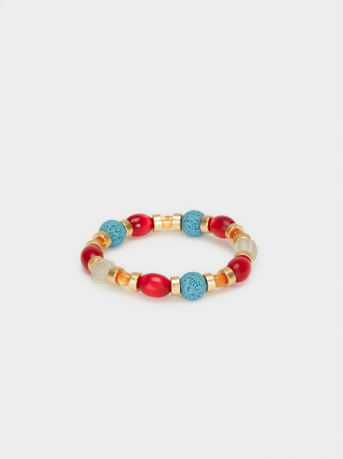 Cherry Blossom Stretch Bracelet, Multicolor, hi-res