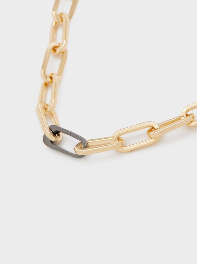 Short Chain Necklace, Multicolor, hi-res
