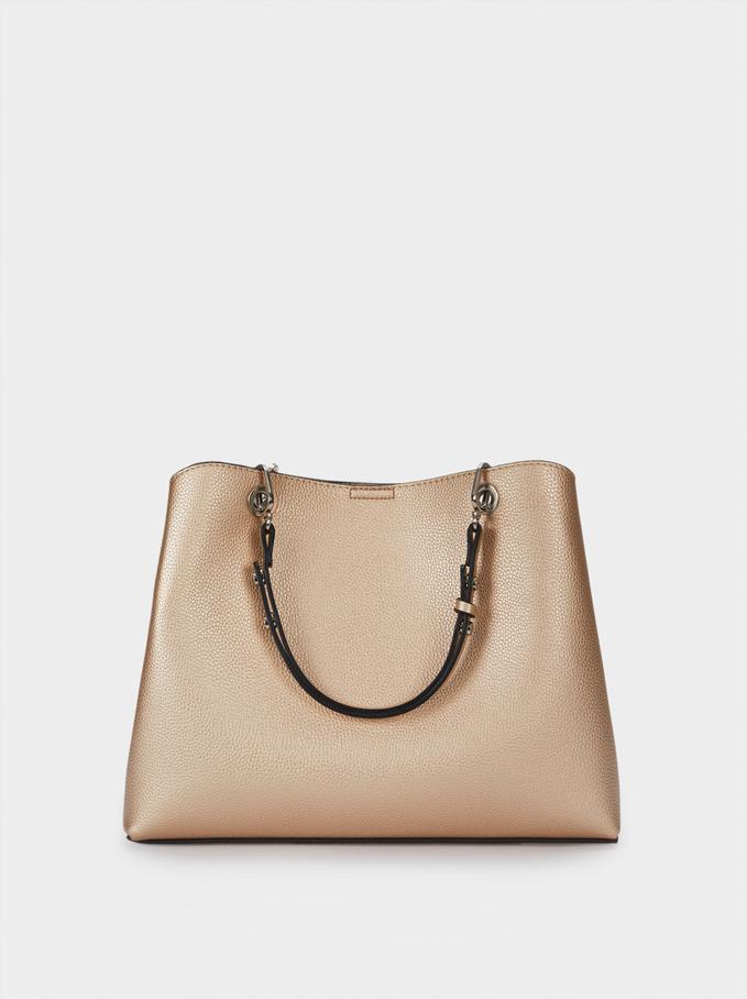Tote Bag With Adjustable Straps, Golden, hi-res