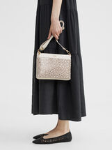 Crossbody Bag With Openwork Detailing, Ecru, hi-res