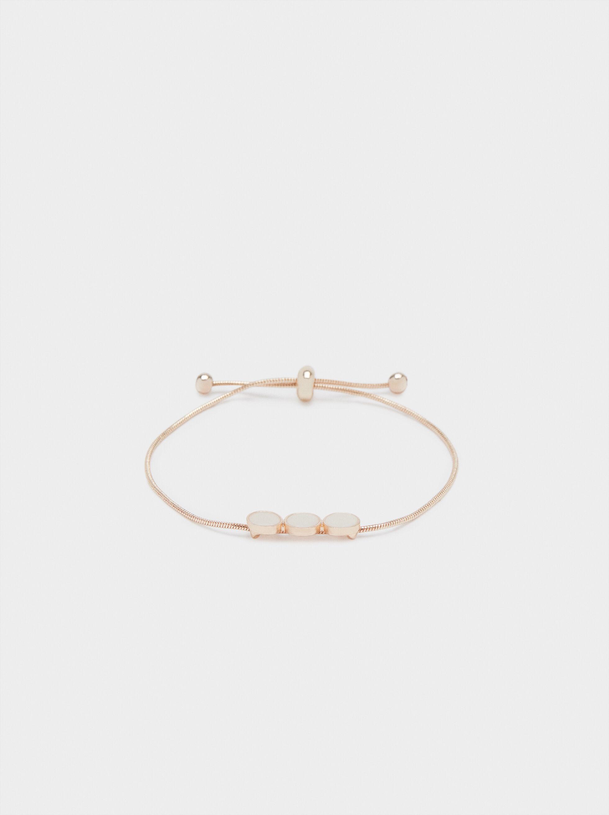 Rose Gold Adjustable Bracelet, Orange, hi-res