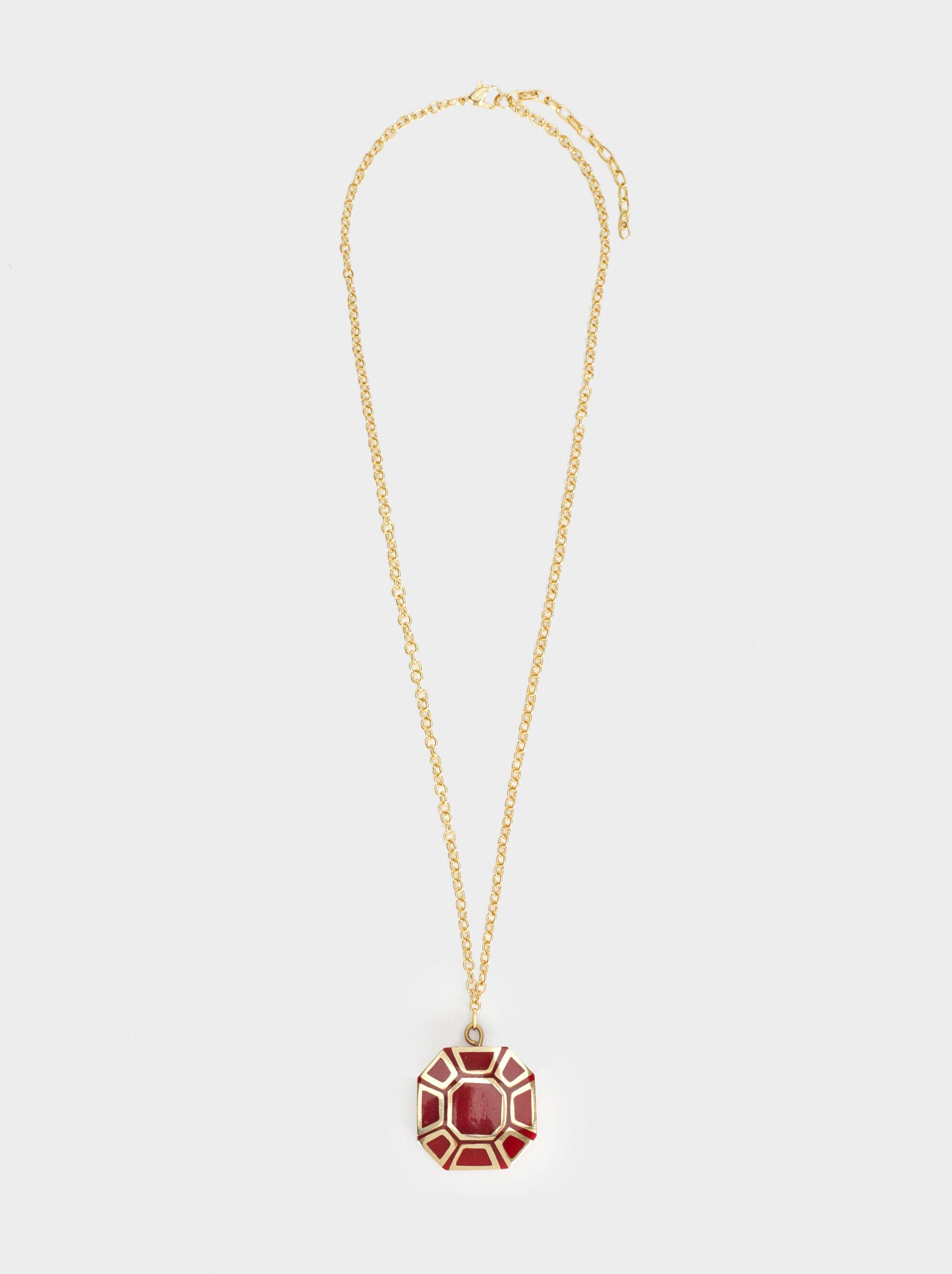 Karpa Long Necklace, Bordeaux, hi-res