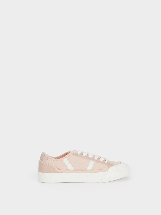 Organic Cotton Trainers, Pink, hi-res