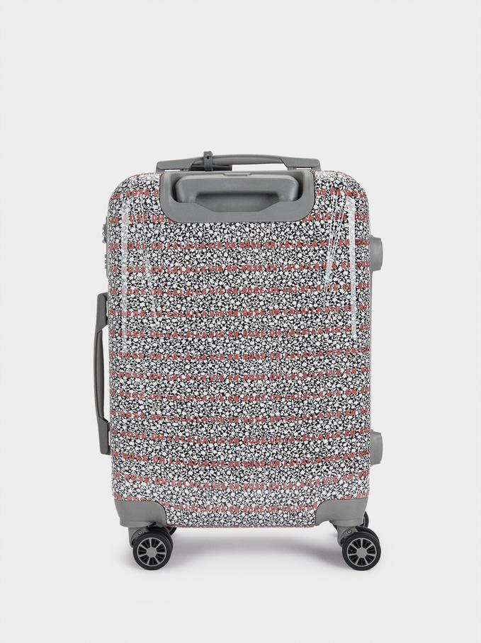 Printed Suitcase, Grey, hi-res