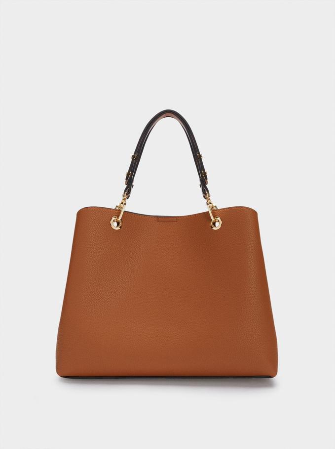 Tote Bag With Adjustable Straps, Camel, hi-res