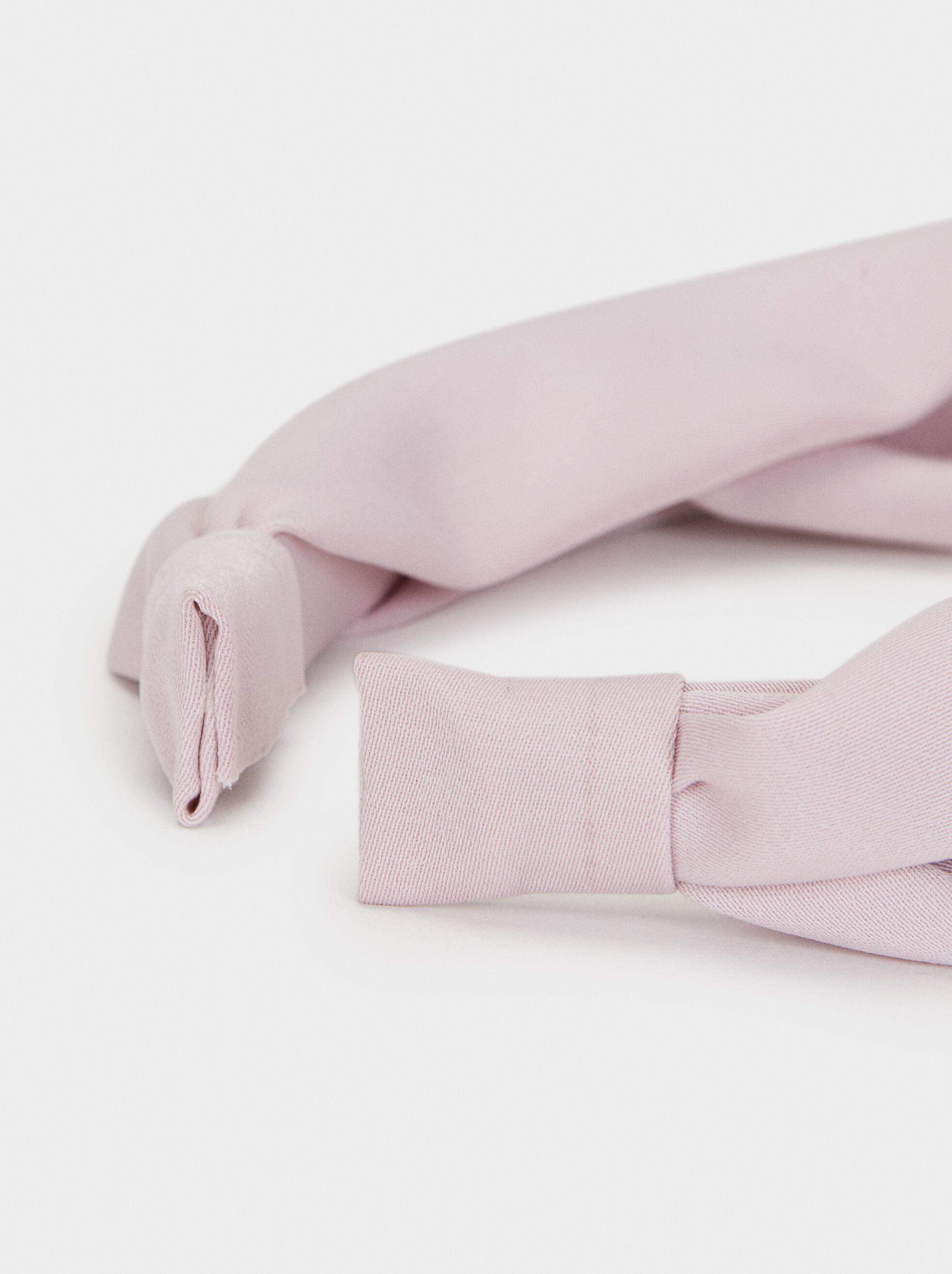 Plain Knot Headband, Pink, hi-res
