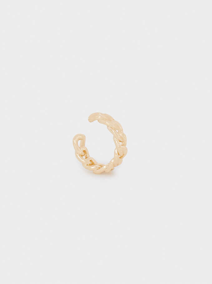 Small Golden Earcuff, Golden, hi-res