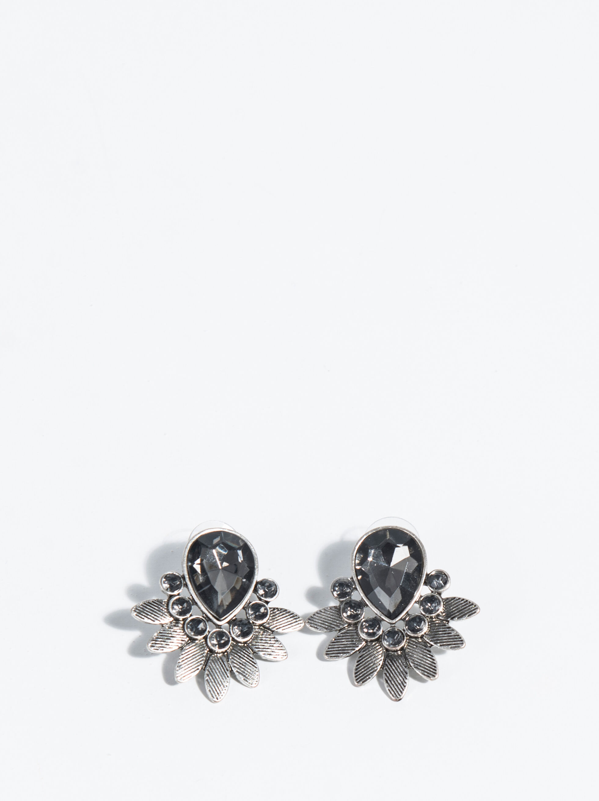 Silver Basics Short Earrings, Silver, hi-res