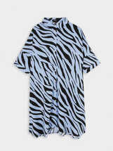 Animal Print Shirt Dress, , hi-res