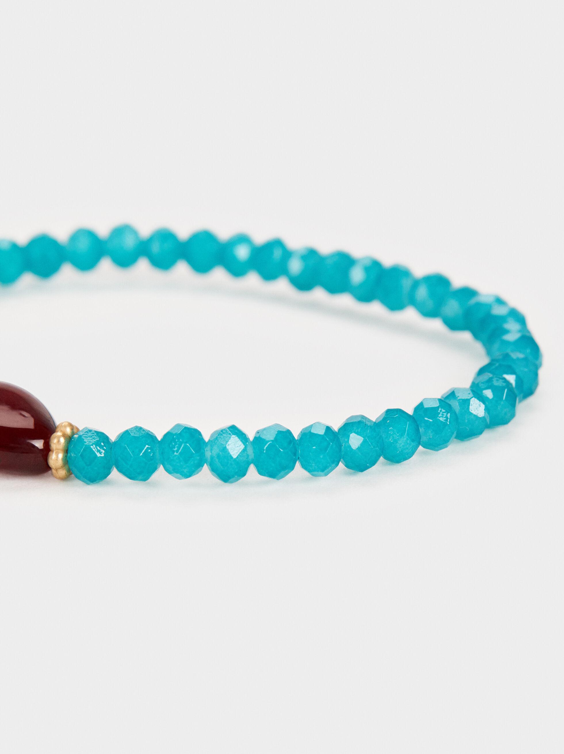 Cherry Blossom Stretch Bracelet, Green, hi-res