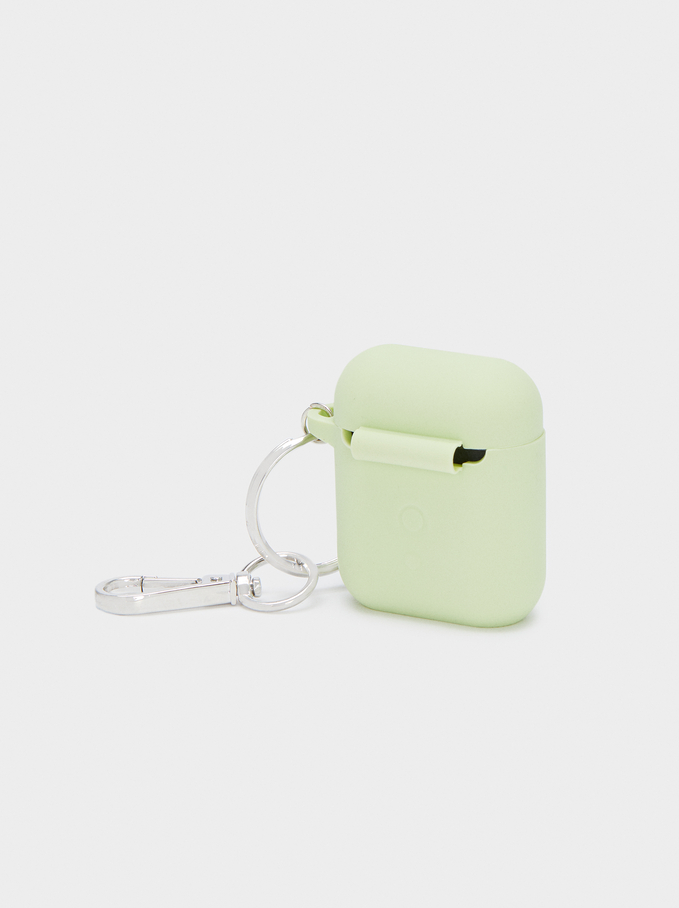 Airpods Case, Green, hi-res