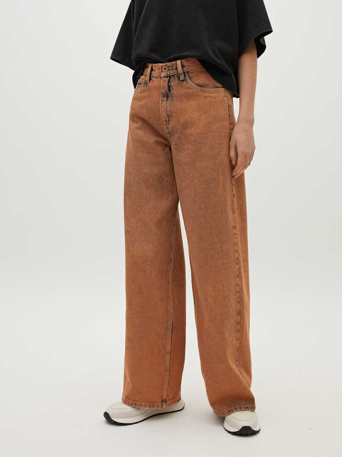 Long Jeans, Orange, hi-res