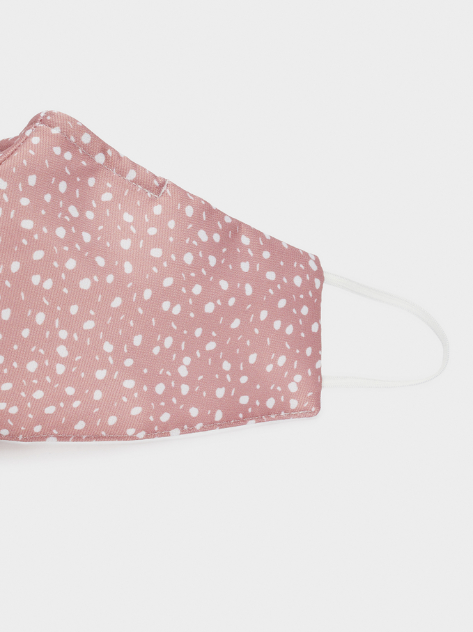 Reusable Printed Mask, Pink, hi-res