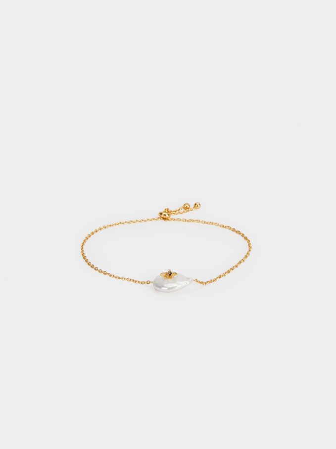 Bracelet Ajustable En Argent 925 , Beige, hi-res