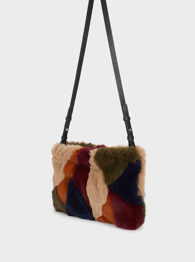Handbag With Strap, Beige, hi-res