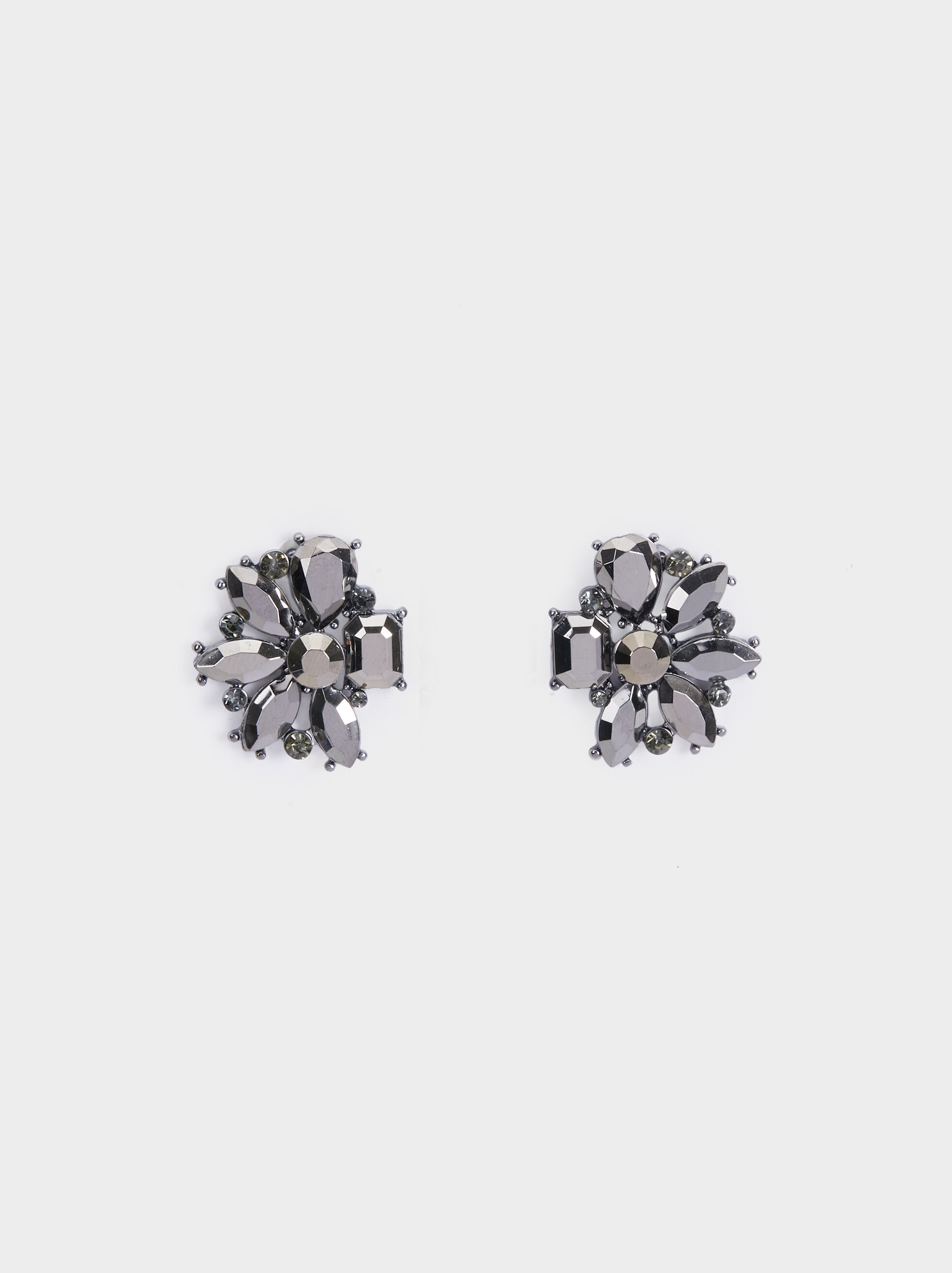 Botanic Party Studs, Black, hi-res
