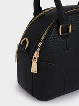 Tote Bag With Shoulder Strap, Black, hi-res