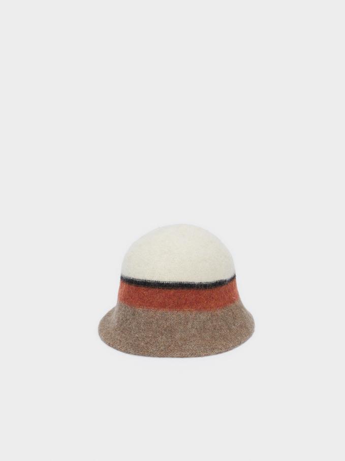 Sombrero Cloche De Punto, Multicor, hi-res