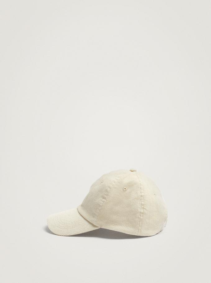 100% Cotton Cap, Ecru, hi-res