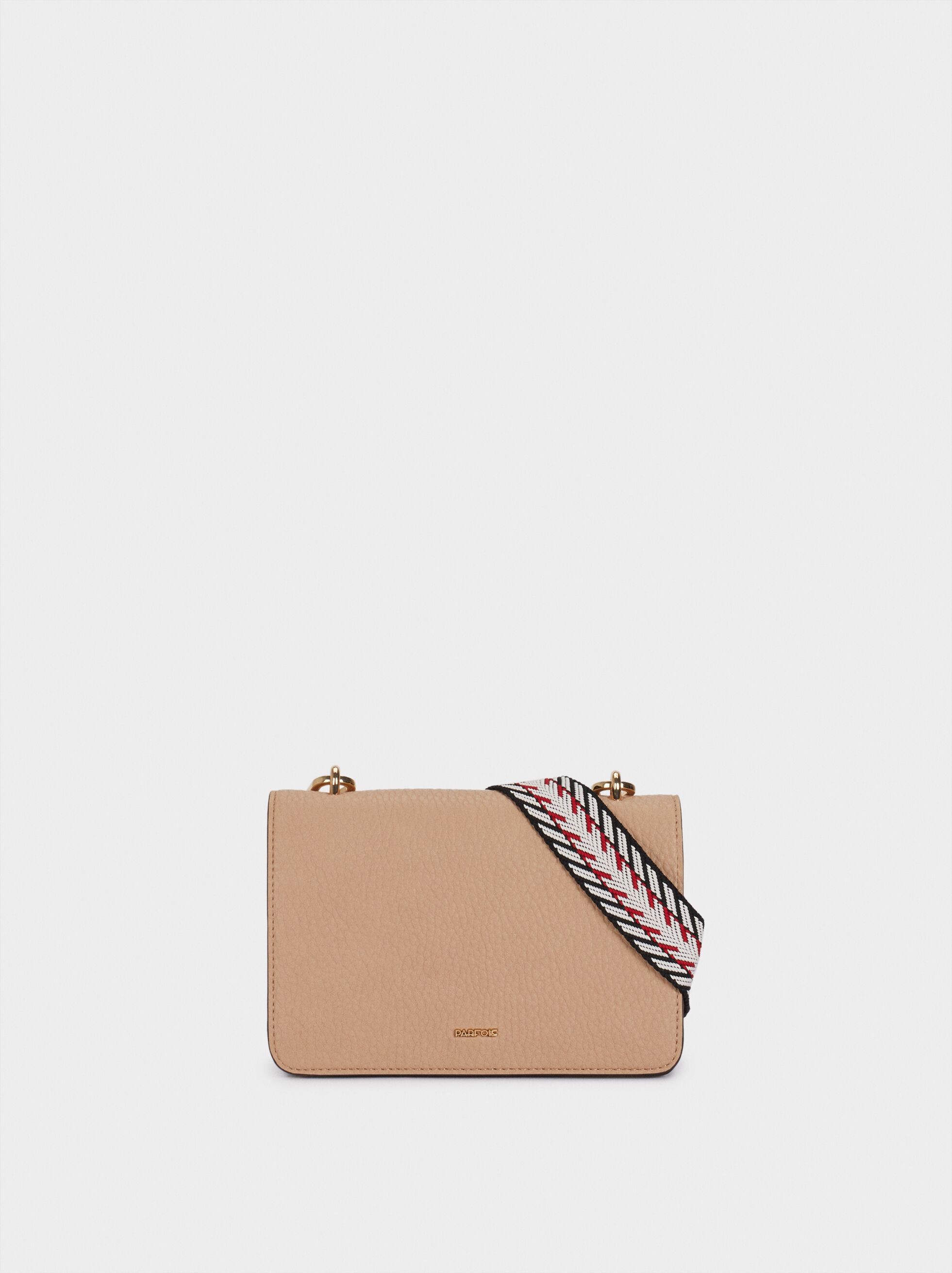 Crossbody Bag With Contrast Strap, Pink, hi-res