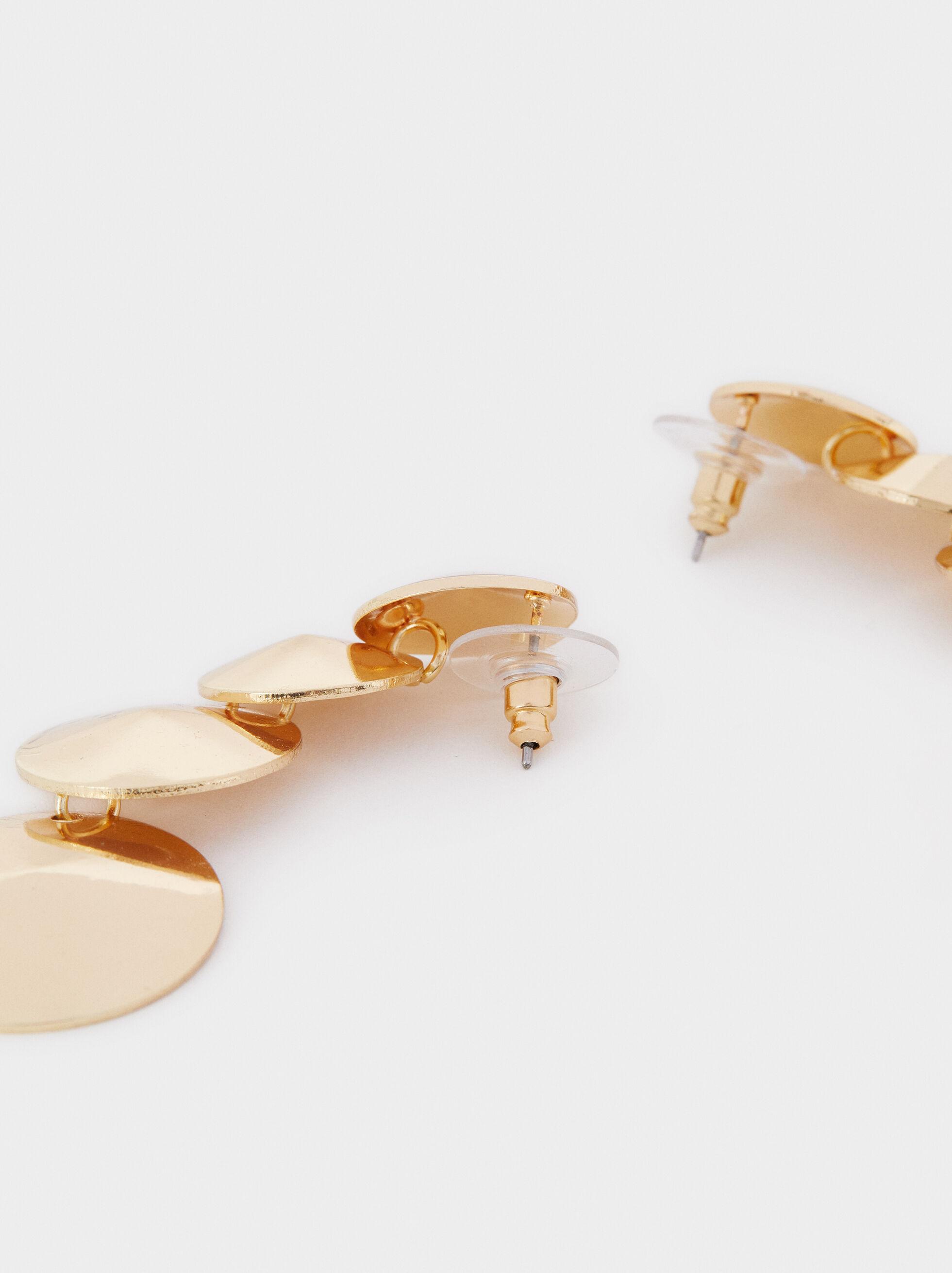 Long Golden Earrings, Golden, hi-res
