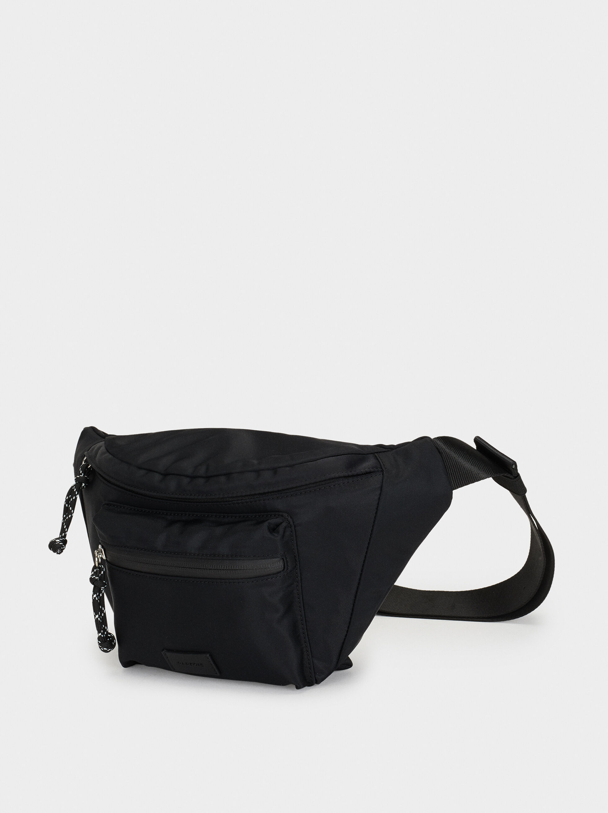 Nylon Belt Bag, Black, hi-res