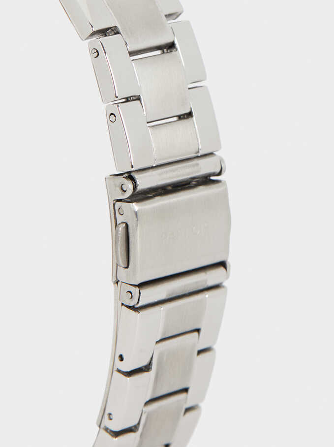 Watch With Steel Wristband, Silver, hi-res