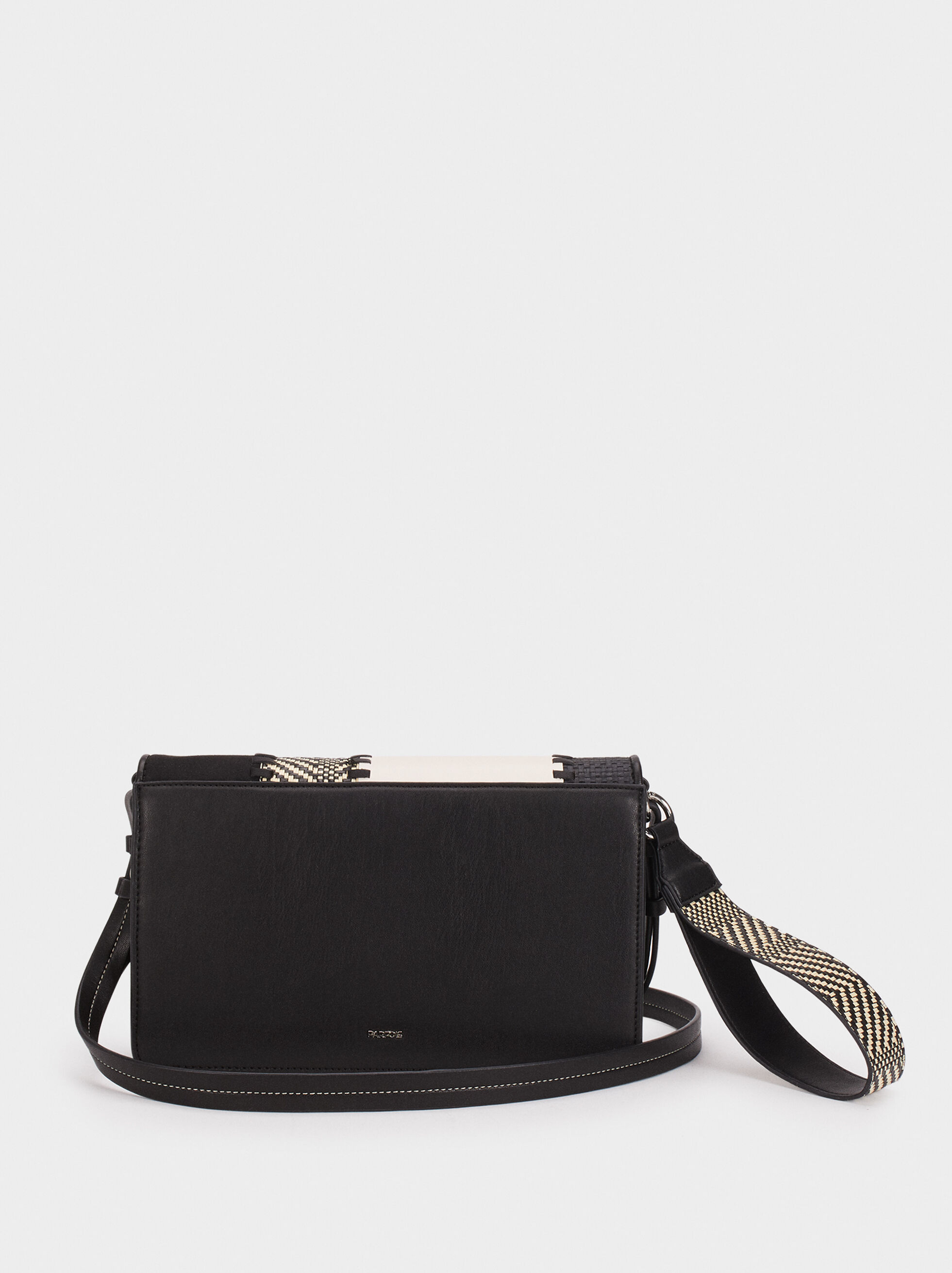 Patchwork Crossbody Bag, Black, hi-res