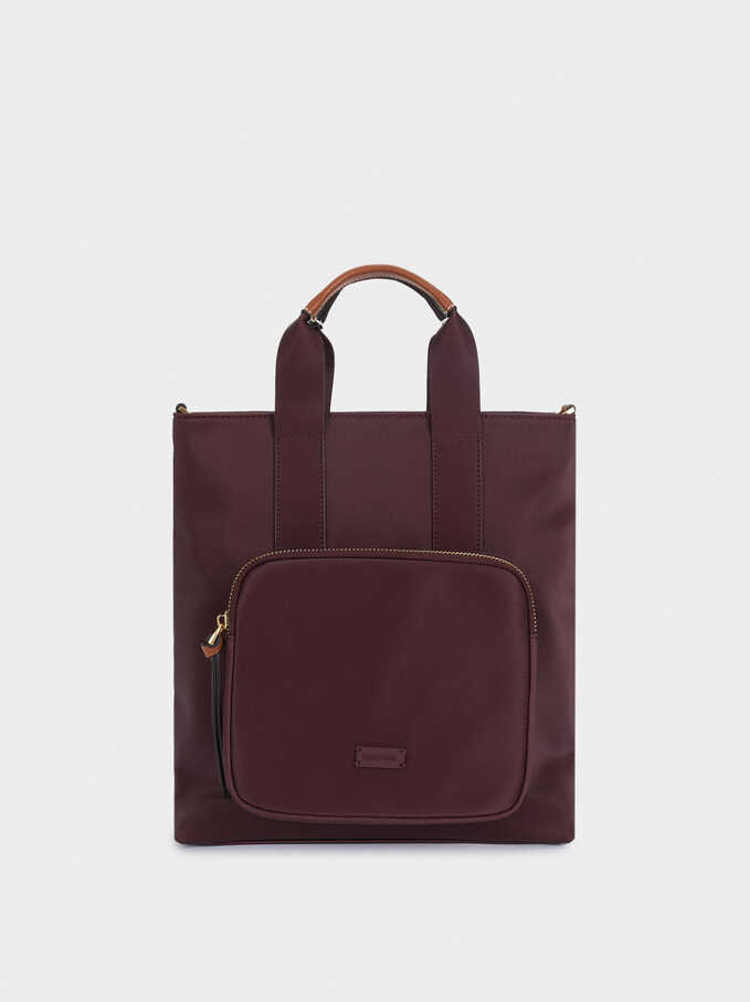 Multi-Way Backpack With Detachable Straps, Bordeaux, hi-res