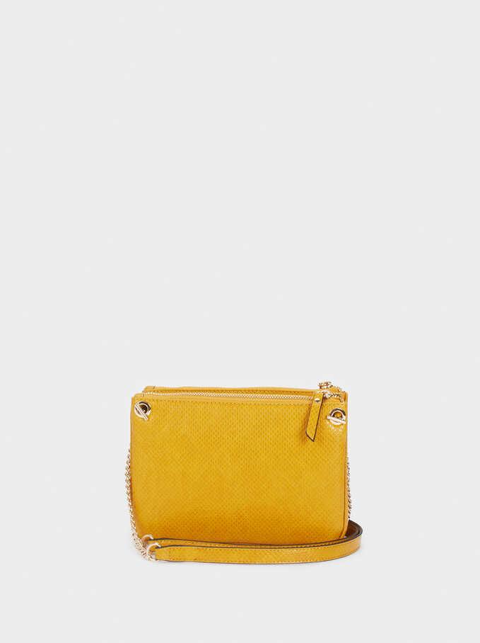 Animal Embossed Crossbody Bag, Yellow, hi-res