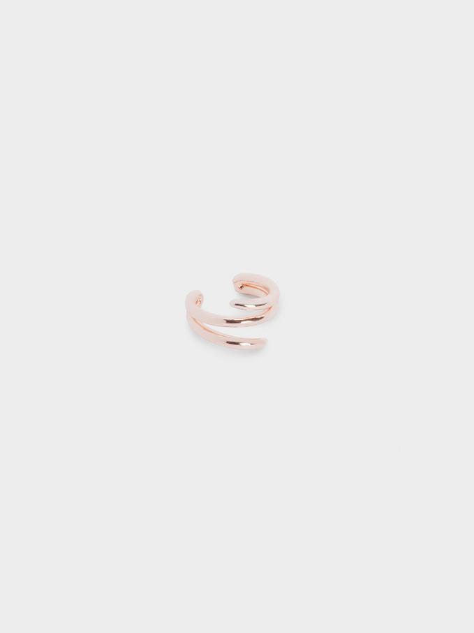 Spiral Earcuff Earrings, Orange, hi-res